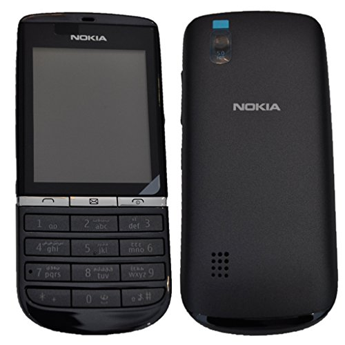 Nokia Asha 300 (Arabic + English Keypad) Factory Unlocked Smartphone - International Version with No Warranty (Graphite NV Levant) (Arabic Cell Phone)