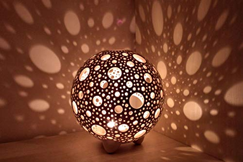 Sphere Candle Lantern Handmade, Bubble Ceramic Candle Holder, Candlestick Home Decor