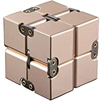 Aluminium Alloy Infinity Pocket Size Cube Toys Relaxation Office Stress Reducers for ADD, ADHD, Anxiety, Autism Adult…