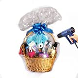 Gift Basket Clear Shrink Wrap Bag, 24 X 30 Inch, with Pull Bow