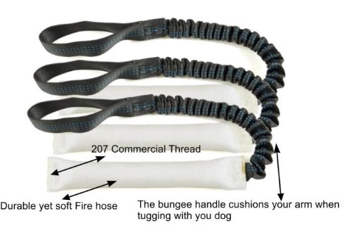 Bundle of 3 White Fire Hose Bungee Tug Toy 1″ X 16″ – Redline K9 Review