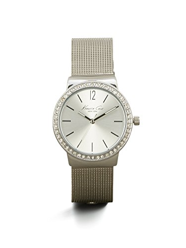 Kenneth Cole New York Women's Silvertone Pave Rhinestone Bezel Watch