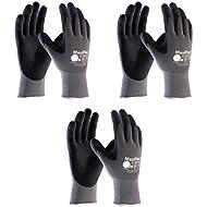 Maxiflex 34-874 Ultimate Nitrile Grip Work Gloves, Medium, 3 Piece