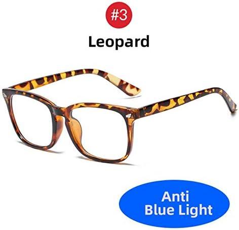 Miwaimao 子供ブルーライトカットメガネ,女性特大ヒョウアンチブルーレイライトフィルターヒョウメガネコンピューター保護ブロックゲームメンズメガネ、ヒョウ