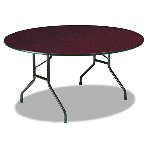 Iceberg ICE55264 Round Premium Wood Laminate Folding Table, 60
