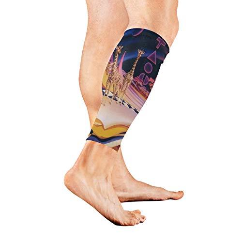 - Leg Sleeve Art Earth Giraffe Calf Sleeves 1 Pair for Men/Women Running/Cycling/Maternity/Travel/Ourdoor Activities