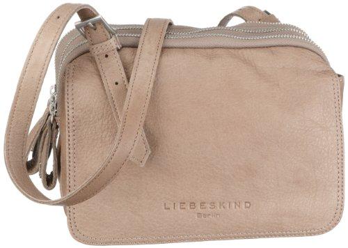 Liebeskind Berlin Valerie - Bolso de mano con correa ajustable para mujer (33 x 22 x 17 cm) gris (gray)