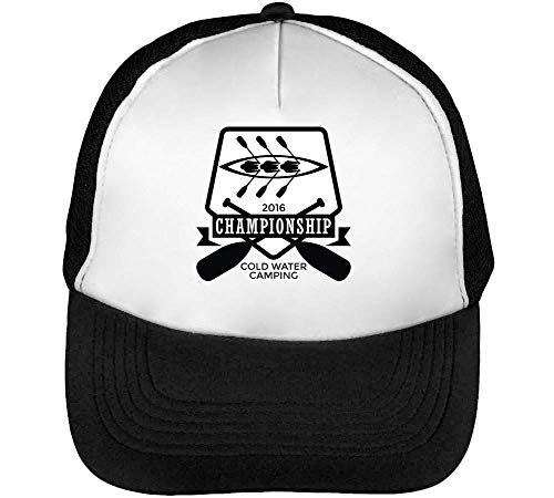 Sport Badge Rafting Championship Gorras Hombre Snapback Beisbol Negro Blanco