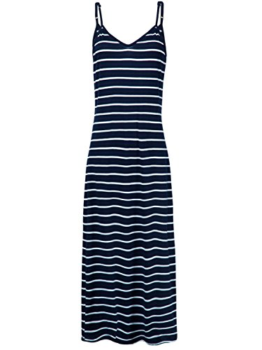 PERSUN Women's Summer Basic Stripe Bodycon Tank Maxi Dress Spaghetti Strap Long Dress
