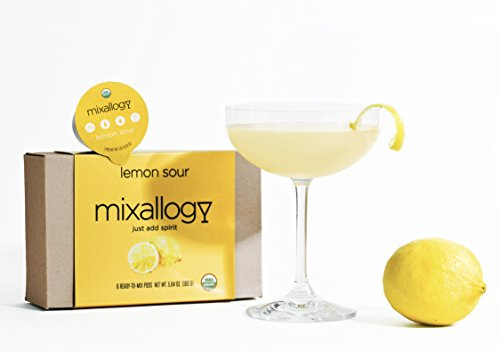 Mixer Lemon Drop - mixallogy Lemon Drop Powdered Cocktail Mix, USDA Certified Organic - 6 Servings