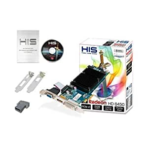 HIS H645H2GD1 Radeon HD 6450 2GB (64bit) DDR3 Displayport DL DVI-D (HDCP) VGA PCIe x1 2.1 Low Profile Graphics Card