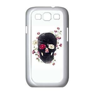 Samsung Galaxy S3 9300 Cell Phone Case White Skull Grunge Flower Ybyo