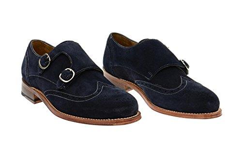 Gordon & Bros 4925 Navy-suede, Scarpe stringate uomo Blu scuro