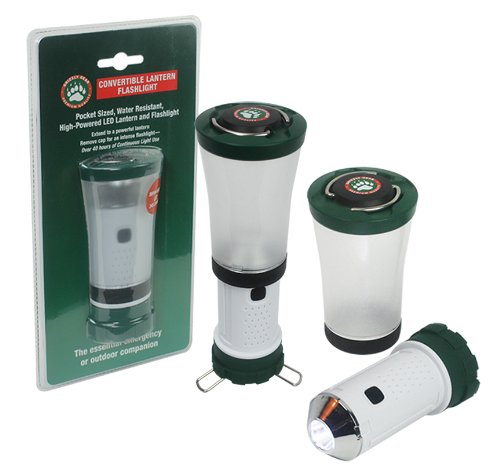 Grizzly Gear Emergency Lantern and Flashlight - Long Lasting LED Convertible Flash Light and Lantern - Battery Powered, 100% Guaranteed by Grizzly Gear