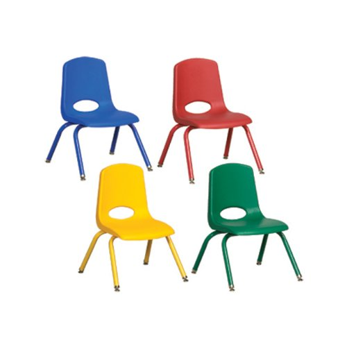 (Ecr4kids 14 inch Polypropylene Classroom and Kids Room Plastic Stack Chair Painted With Traditional Standard Glides For Toddler - Assorted Electronics, Accessories, Computer)