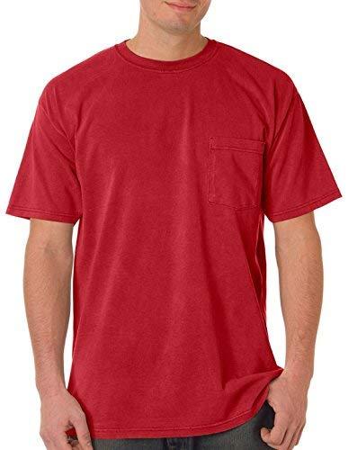 Comfort Colors Chouinard 6030 Adult Heavyweight Pocket Tee Crimson PgmDye XX-Large from Comfort Colors