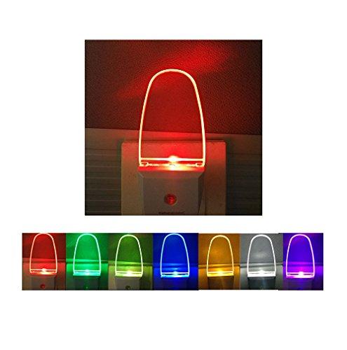 Greenic Multicolor RGB Night Light 2 Pack, Plug in, Auto on off, 0.2w LED Nightlight