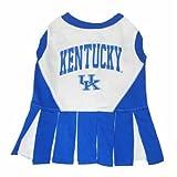 Pets First Kentucky University Dog Cheerleader Outfit, Small, My Pet Supplies