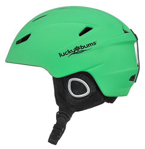 Lucky Bums Powder Series in-Mold Ski Snowboard Snow Sport Helmet, Green, M