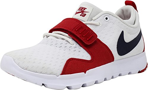 NIKE Men's Trainerendor 11 Ankle-High Skateboarding Shoe White / Obsidian / University Red sale professional explore for sale discount footlocker pictures X2903