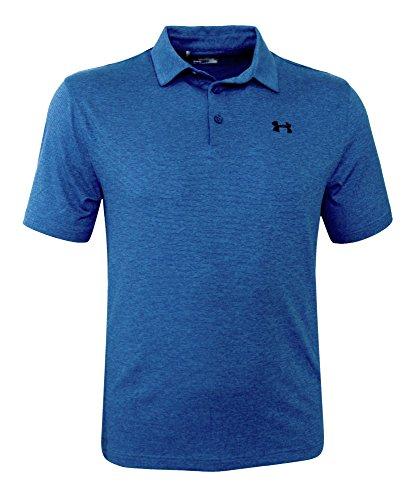 Under Armour Mens Performance Golf Polo Anti Odor Athletic Shirt (M, Squadron 438)