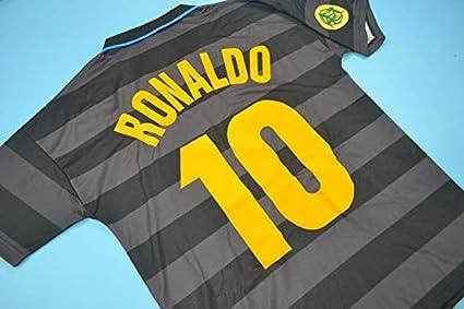 2c0a08fd4c0 Amazon.com   Retro Ronaldo 10 Inter Milan Soccer Jersey 1997-1998 ...