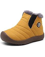 Gaatpot Kinder Winterschuhe Jungen Mädchen Schneestiefel Wasserdicht Warm gefütterte Schlupfstiefel Winter Stiefel Sneaker Schuhe