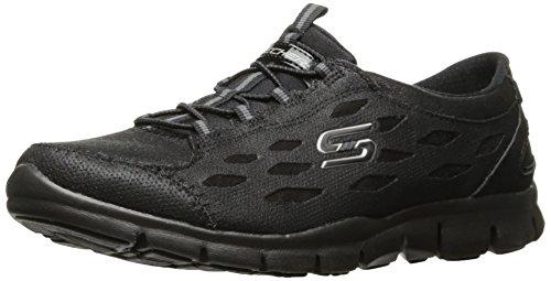 Frauen auf Nero der Foam 22774 Memory elastischem SERENE rutschen SIMPLY Schuhe SKECHERS schwarzen Wgwq6n8Y8x