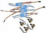 FastWin 4Pcs 1806 2400KV Brushless Motor + 4Pcs Simonk 12A ESC for DJI F330 ZMR250 H250 Quadcopter