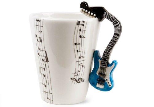 Blue Guitar Handmade Coffee Mug (10cm x 8cm)