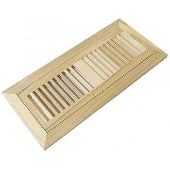 Hickory Pecan Unfinished Wood Floor Vent Register 4 X 12
