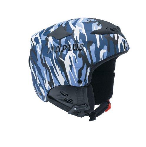 Maplus kombatt–Casco para snowboard, color camuflaje, color azul