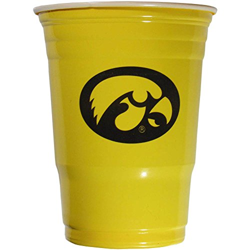 Siskiyou NCAA Iowa Hawkeyes Plastic Game Day Cups 2 Sleeves of 18 (36 Cups) ()