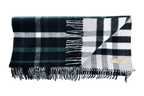 Burberry Wool Cashmere - Burberry Wool Cashmere Multi-Color Checkered Fringes Decorated Unisex Scarf