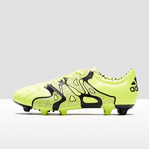 adidas X 15.2 FG/AG Leather - Botas Para Hombre Lima / Negro