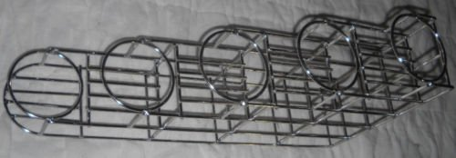 5 Bottle Rack Fifths or Syrup Stainless 5000307