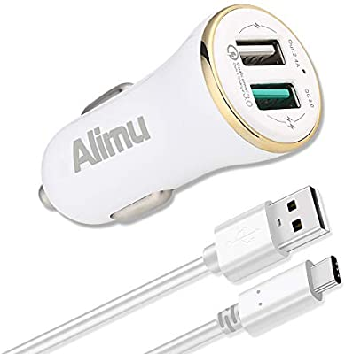 Amazon.com: Tipo C Cargador de coche: Alimu