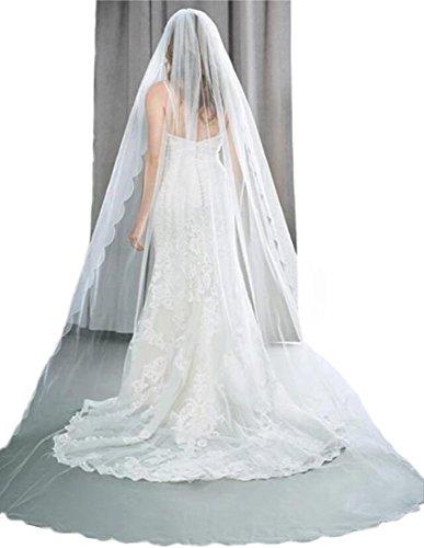 Passat 1T 5M/10M NEW ARRIVAL bridal veil cathedral crystal beaded wedding veil H72