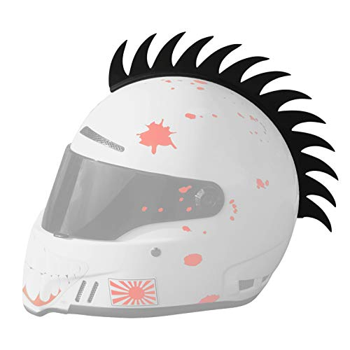 Moto Loot Helmet Mohawk for Motorcycles, Sportbikes, Dirt-Bikes, Snowmobiles, Cruisers and Gifts (Helmet Not Included)