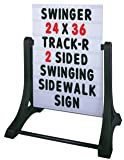 Swinging Sidewalk Message Board Sign (2 Sided)