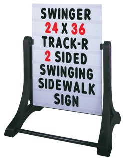 Swinging Sidewalk Message Board Sign (2 Sided) by Accent Printing & Signs