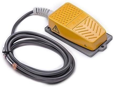 QLOUNI Commutateur de pied industriel 250V 10A antid/érapant Interrupteur /à pied Interrupteur /à p/édale