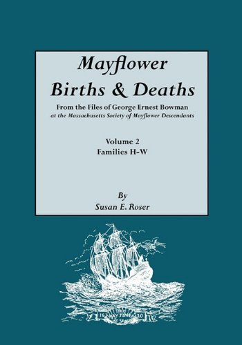 Mayflower Births & Deaths, from the Files of George Ernest Bowman at the Massachusetts Society of Mayflower Descendants. Volume 2, Families H-W. Index Paperback February 3, 2010