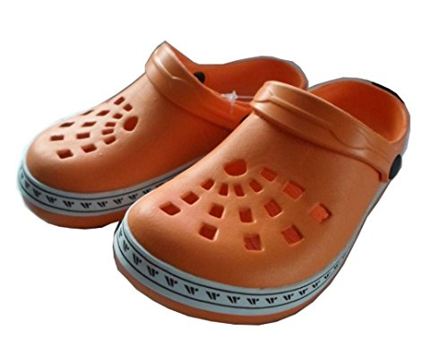 WOOLF SHOES Mädchen Clogs Orange mit Muster Gr. 30 31 32 33 34 35 Hochwertiges phylon Neu!