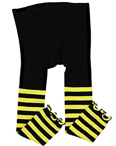 Bee Tights - juDanzy toddler & girls footless tights (2-4 Years, Bee Stripe)