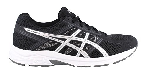 ASICS Men's Gel-Contend 4 Running Shoe, Black/Silver/Carbon, 11.5 4E US