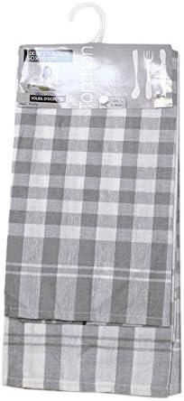 Soleil docre Lote de 2 paños de Cocina de algodón Vichy Gris, Jacquard 50 x 70 cm: Amazon.es: Hogar