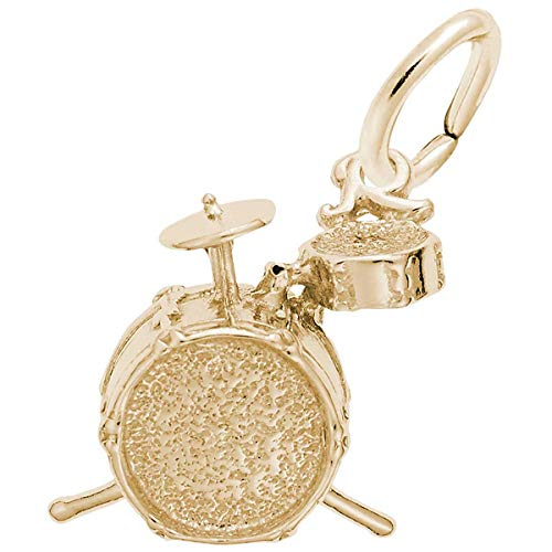 Rembrandt Charms Drums Charm, 14K Yellow -