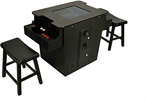 Cocktail Arcade Machine 412 Games w/trackballs Includes 2 Stools 2 Year Warranty - Commercial Grade