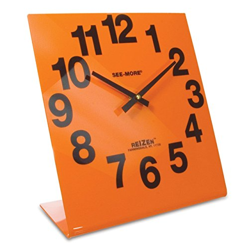 Reizen Giant View Clock- Orange Face by Reizen